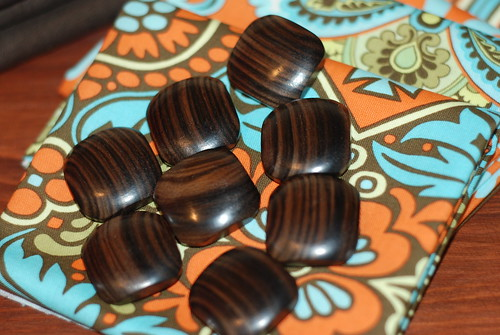Vintage wooden buttons by you.