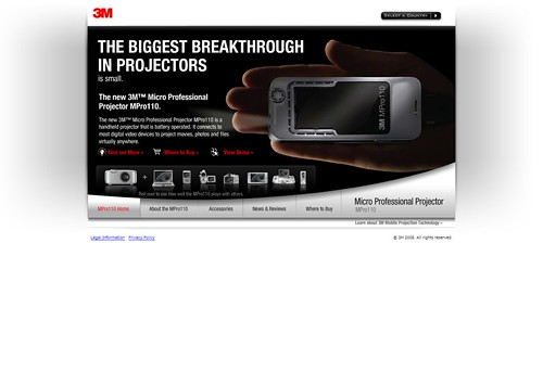 3M MPro best small mini projector, mobile LED