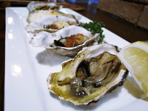 焼き牡蠣の五色盛