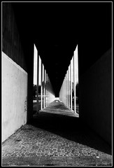 Spiral Butterfly (Andrea_b.) Tags: light urban bw architecture vanishingpoint shadows perspective suburbia column turin clairobscur bwgallery falchera betterthangood bwartaward
