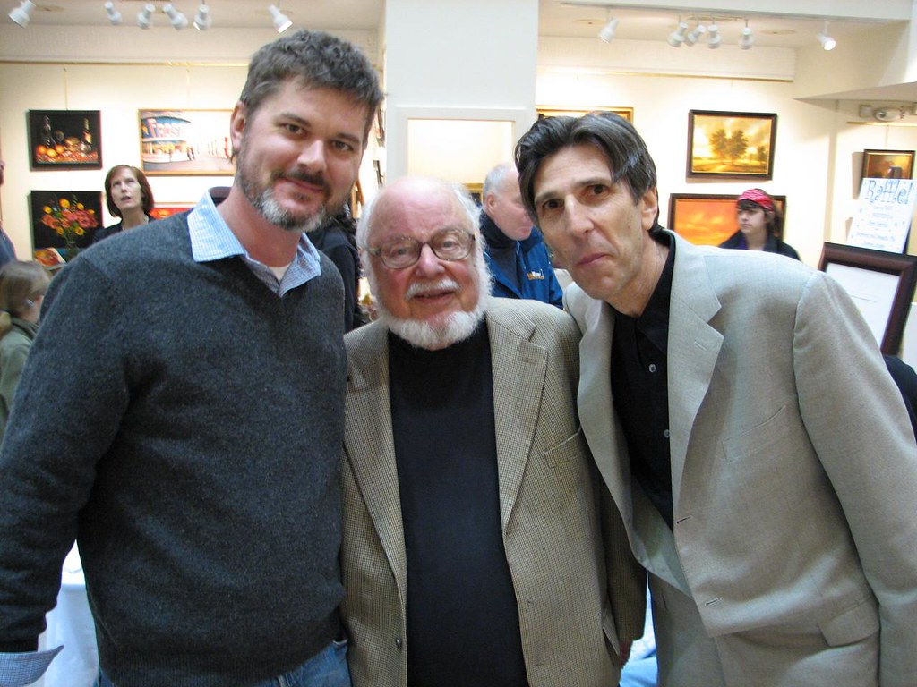 Mo Willems, Norton Juster and Richard Mi by Mark Blevis, on Flickr