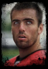 Joe Flacco - Baltimore Ravens (crabsandbeer (Kevin Moore)) Tags: portrait texture sports football nfl quarterback qb rookie trainingcamp ghostbones baltimoreravens joeflacco