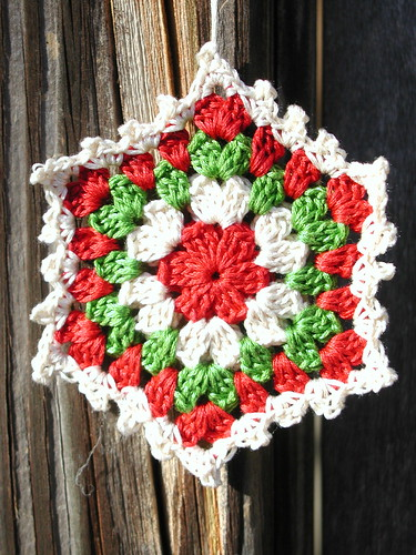 Crochet Granny Square Ornament