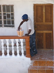 House Painter (Karen Hlynsky) Tags: sierraleone westafrica freetown colefarm