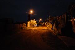 Unsere Straße bei Nacht