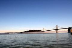Oakland Bay Bridge (Caitlinator) Tags: sanfrancisco california trip travel bridge vacation sunrise bay oaklandbaybridge