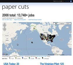 Paper Cuts Mashup of Newspaper Job Losses