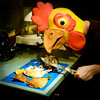 fowl play (poopoorama) Tags: selfportrait chicken me dinner nikon mask knife sigma roast danny year2 day239 d300 365days blogdannyngancom 1850mmf28exmacrohsm epiceditsselection