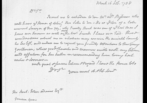 John Jay to John Adams about Unknown Kissam - Feb 16, 1788