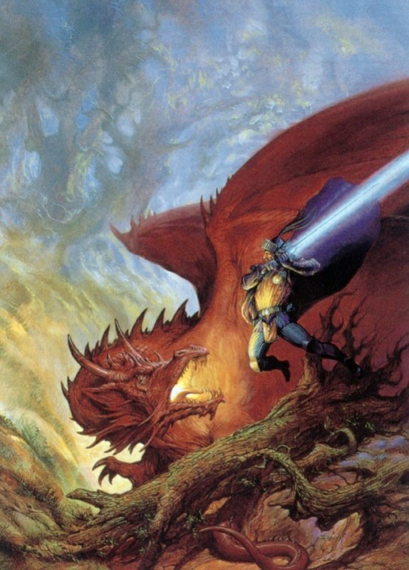for Dragonlance, by Jeff Easley