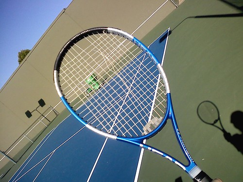 My First Broken Tennis Racket Strings