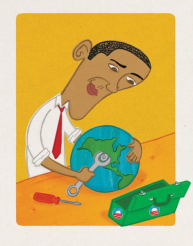 Obama fixing the environment RGB version