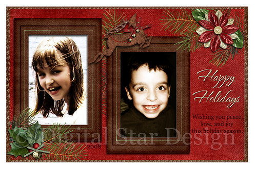 Christmas Card example, 6x4, full-size