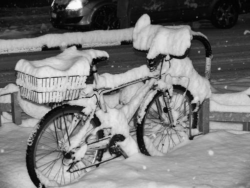 la mia bici stasera..... :-(