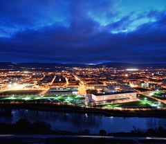 Logroo night - (La Rioja) - North Spain (oo Felix oo) Tags: city sky night river landscape lights nikon ciudad paisaje nocturna d80 felmar