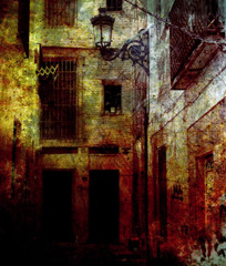 Callejuela (batabidd) Tags: street manipulated calle artistic creative textures collaboration greus theawardtree graphicmaster everbre