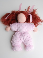 Snuggles PinkMinkee (MommaWillow) Tags: sold custom weighted waldorfdoll