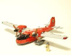 Seaplane (psiaki) Tags: airplane lego seaplane jurassicpark redux moc islandhopper