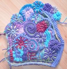 Freeform Crochet (Front piece of Cardigan) (regulli) Tags: knitting crochet cardigan freeform stricken
