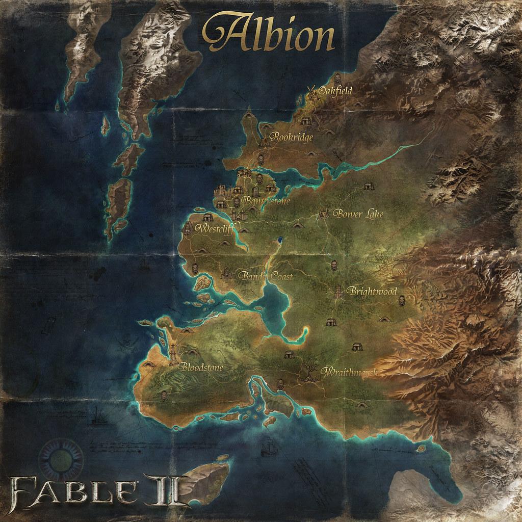 Carte dAlbion la contrée de Fable 2