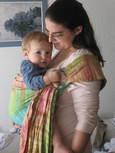 rainbow batik sling