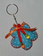Chaveiro de flor (Artes e Coisas) Tags: flor chaveiro