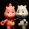 281/365 in which grumpy keeps quiet (mlsjs) Tags: pink blue toys ducttape cheer carebears grumpy cheerbear grumpybear object365 oneobject365daysproject