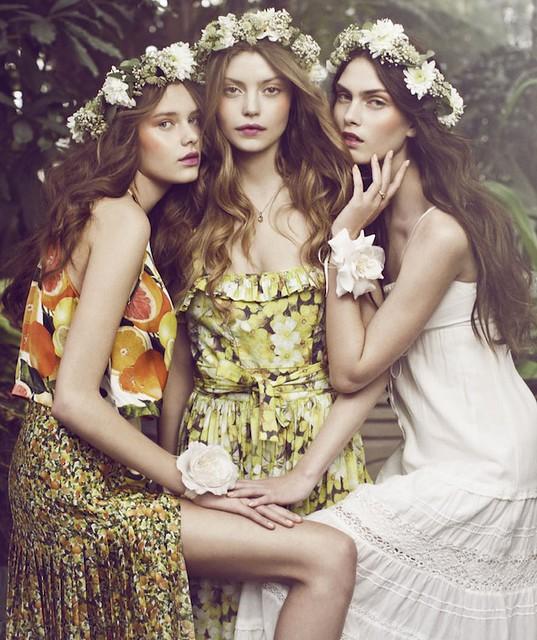 Elle Denmark Maria Palm Lyduch, Julie Rode & Solveig Mørk Hansen by Signe Vilstrup (Flower Girls - Elle Denmark A