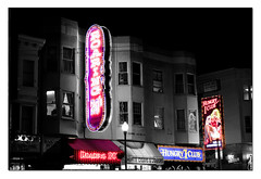 Strip Clubs on Broadway (sumedhps) Tags: sanfrancisco selectivecoloring