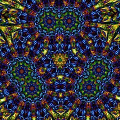 Old Hippy's Drug Damaged Brain Cells (PhotoComiX) Tags: blue green geometric strange weird colorful colours hippy gimp kaleidoscope mandala popart vision drug rotation psychedelic queer 70 colorexplosion yellowish oldhippy kaleidoscopio fotocomics photocomix kaleidoscopeonly roatate caleiedoscopio hippystile drugdamage oldhippydamagedbraincells