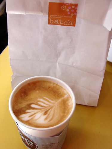 Sheer Bliss: A latte from Joe and Cupcakes from Batch