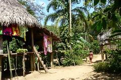 Panama - Chagres Park - Embera Puru Indianen - by Rita Willaert