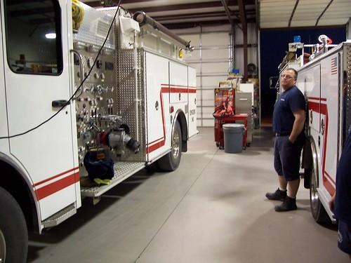 Fire truck at fire department near Wintersburg, Arizona