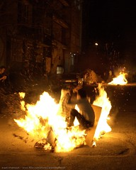 Clash On Fire 2 (Arash_Khamoosh) Tags: night fire smash jump jumping iran clash flame conflict strike tehran tilt encounter chaharshanbesoori chaharshanbesuri shahrakegharb confliction