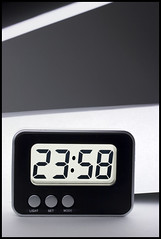 Time is Running Out (losvizzero) Tags: lighting white black cold clock set modern backlight night grey interestingness cool display time buttons latenight explore fluorescent translucent desaturated minimalism lcd mode alarmclock liquidcrystal coldcolors almostmidnight 2358 3waychallenge 3waychallengewinner impressedbeauty flickrchallengegroup flickrchallengewinner losvizzero friendlychallenges friendlychallengeswinner
