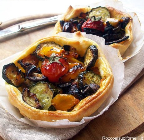 Crostatine di ratatouille
