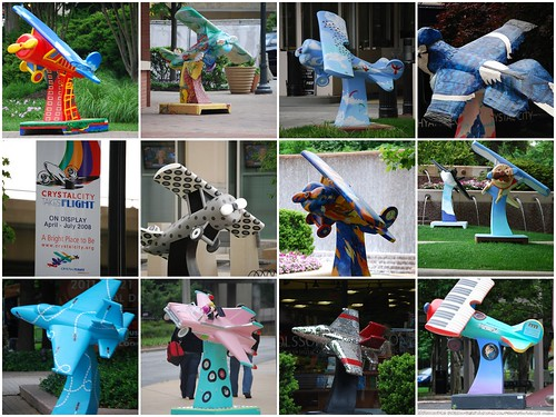 Crystal City Airplane Art