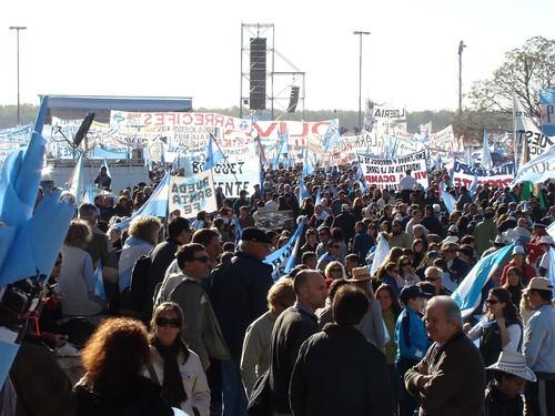 Acto del campo en Rosario por un país federal