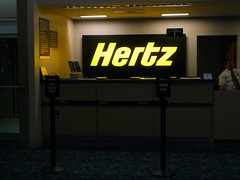 Hertz Rental Car Counter.  Photo by mrkathika.