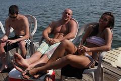 Lake Trip 08 (Casey AKO) Tags: trip friends woman house lake man college boat charlotte ryan pat north norman suit bikini carolina ann bathing pontoon
