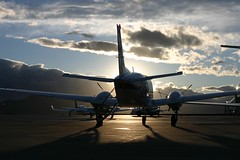 Beechcraft at Sunset (Jadydangel) Tags: blue sunset sky clouds plane airplane rockies shadows rearview beechcraft propeller oohshiny kingair 364 explored gnightyall cmwdblue jadydangel dualprop peachofashot hahpaige heyitjumped407 itoldyouitwasgood explored500andistillmaintainthatcountsdammit