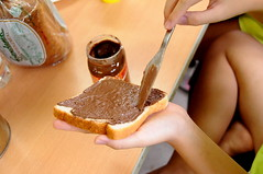 Hazelnut Chocolate Spread and Wholesome Bread for Breakfast