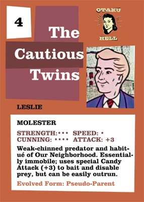 The Cautious Twins Trading Card: Leslie back