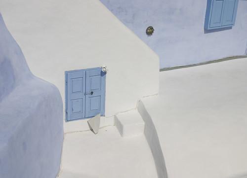 Rooftop in Santorini.