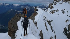 Arête du Laurence (? I think) (chaletlaforet) Tags: mountaineering chamonix aiguilledumidi cosmiquesarête