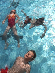 floating (virginhoney) Tags: summer water pool kids swimming warm floating sunny openairpool 5minutetrip