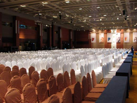 The Venue *before* the Event