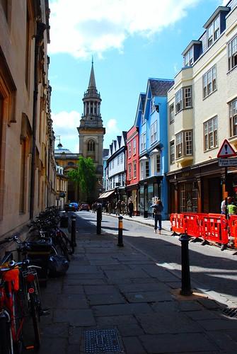 オックスフォードの町並み