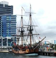 Endeavour (aje152000) Tags: wooden sailing ship harbour sails australia melbourne victoria replica finepix fujifilm docklands tallship exploration s5500 captaincook sailingship endeavour