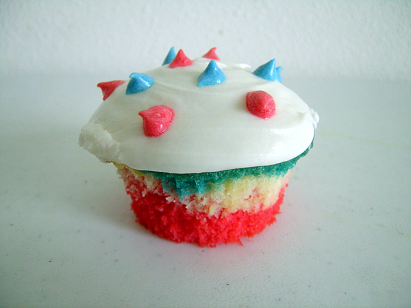 Birthday/Independence Day Cupcakes